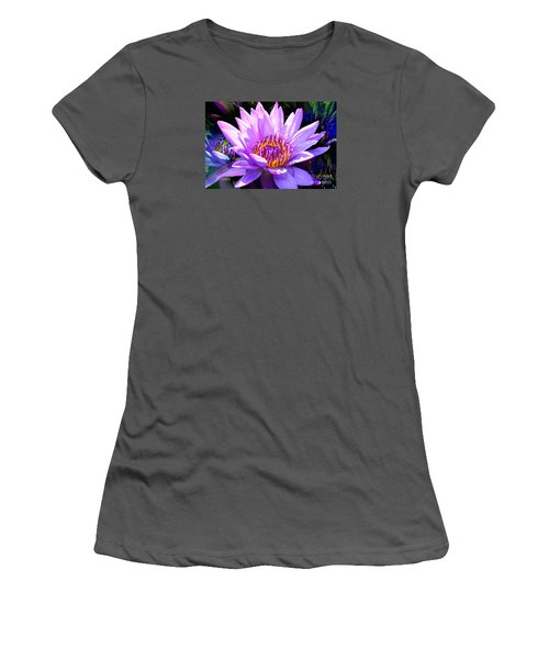 Water Lily In Purple Women's T-Shirt (Junior Cut) by Jeannie Rhode