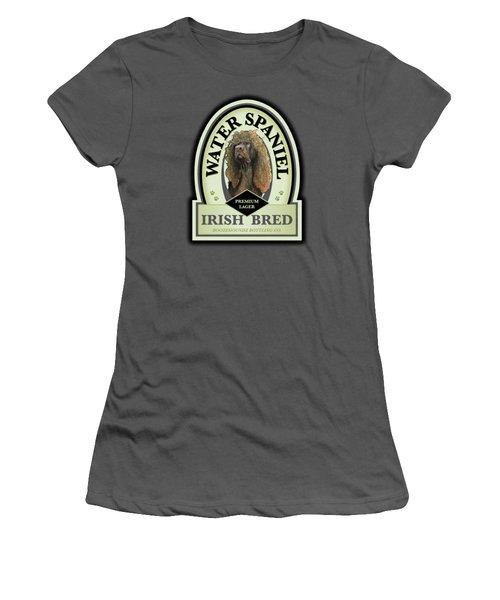 Water Spaniel Irish Bred Premium Lager Women's T-Shirt (Athletic Fit)