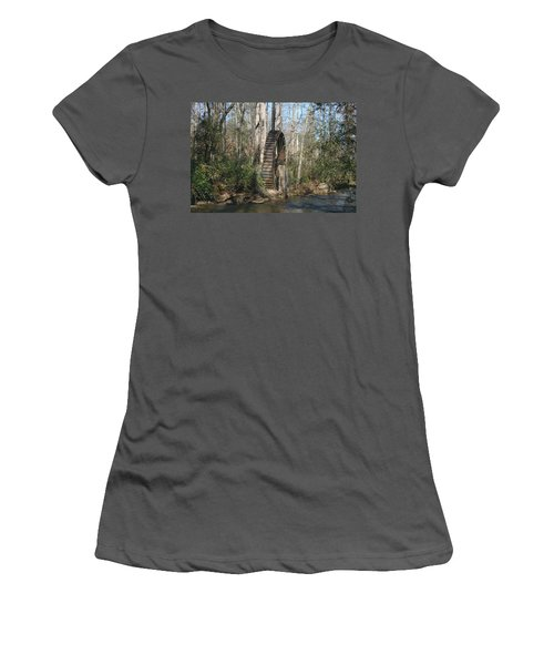 Women's T-Shirt (Junior Cut) featuring the photograph Water Wheel by Cathy Harper