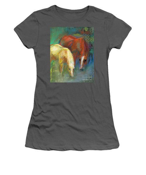 Women's T-Shirt (Junior Cut) featuring the painting Waterbreak by Frances Marino