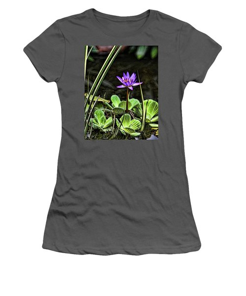Watercolor Lily Women's T-Shirt (Athletic Fit)