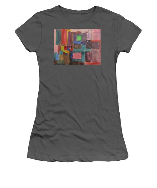Watercolor Shapes Women's T-Shirt (Junior Cut) by Barbara Yearty