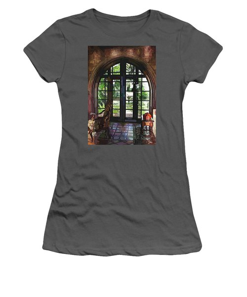 Watercolor View To The Past Women's T-Shirt (Junior Cut) by Susan Molnar