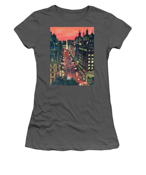 Watercolors-01 Women's T-Shirt (Athletic Fit)