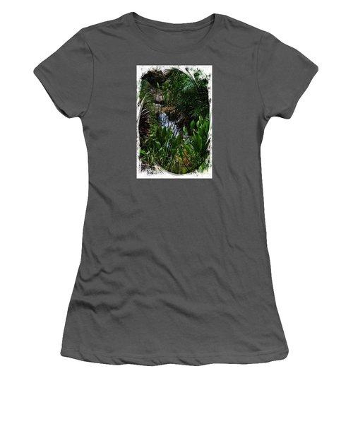Waterfall Garden Swirl 2 Women's T-Shirt (Athletic Fit)