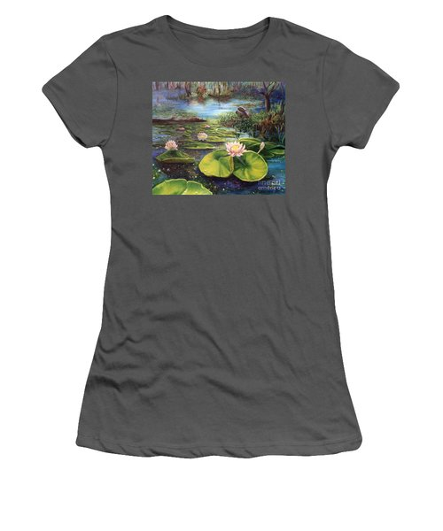 Waterlilies Women's T-Shirt (Athletic Fit)