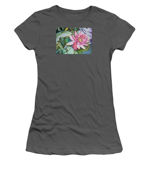 Waterlily Women's T-Shirt (Athletic Fit)