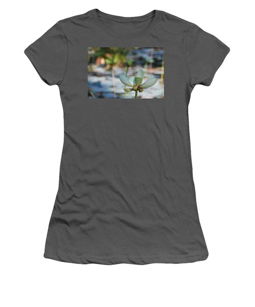 Waterlily Wash Horizontal Women's T-Shirt (Athletic Fit)