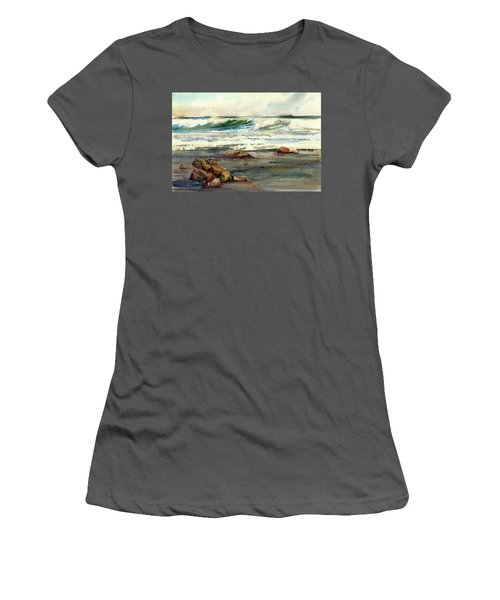 Wave Action Women's T-Shirt (Junior Cut) by P Anthony Visco