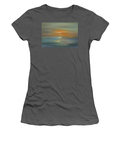 Wave Swept Sunset Women's T-Shirt (Junior Cut) by Dan Sproul