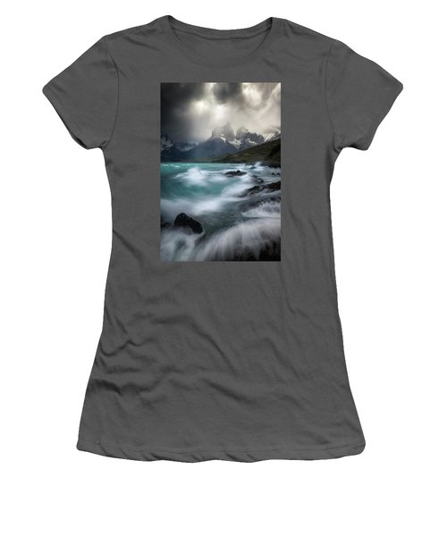 Waves On Waves Women's T-Shirt (Athletic Fit)