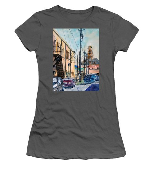 Waxahachie Back Alley Women's T-Shirt (Junior Cut) by Ron Stephens