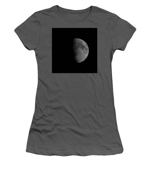Waxing Gibbous Moon Women's T-Shirt (Junior Cut) by Ernie Echols