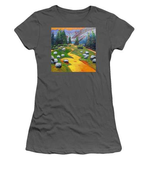 Way To The Lake Women's T-Shirt (Junior Cut) by Gary Coleman