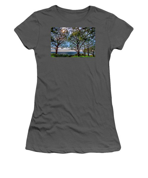Women's T-Shirt (Junior Cut) featuring the photograph Wayfarer's  Ocean View by Joseph Hollingsworth