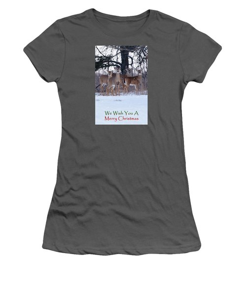 We Wish You A Merry Christmas Women's T-Shirt (Junior Cut) by Gary Hall