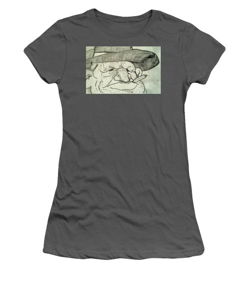 Weathered Old Man Women's T-Shirt (Athletic Fit)