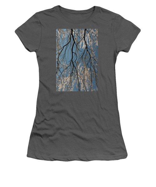 Women's T-Shirt (Junior Cut) featuring the photograph Weeping Cherry #2 by Dana Sohr