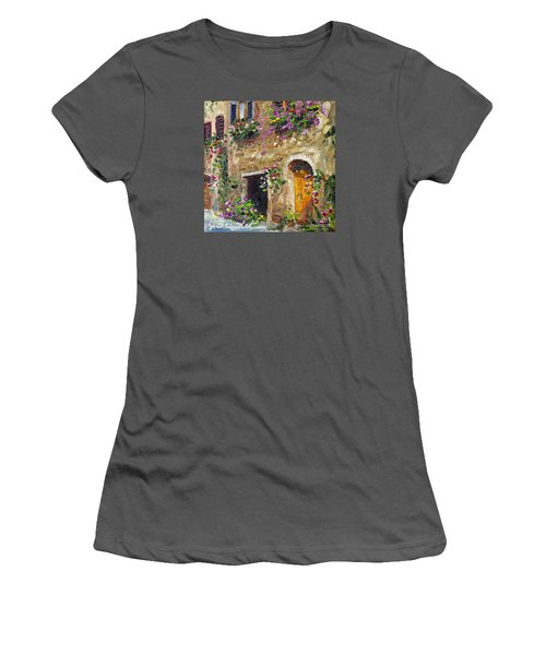 Women's T-Shirt (Junior Cut) featuring the painting Welcome Home by Jennifer Beaudet