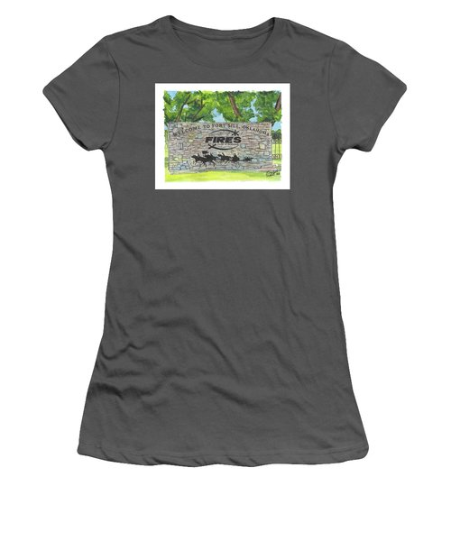 Welcome Sign Fort Sill Women's T-Shirt (Athletic Fit)