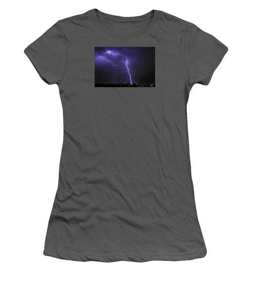 West Jordan Lightning 3 Women's T-Shirt (Junior Cut) by Paul Marto