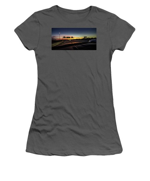 Women's T-Shirt (Athletic Fit) featuring the photograph Westbound by Randy Scherkenbach