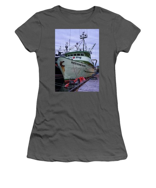 Women's T-Shirt (Junior Cut) featuring the photograph Western King At Discovery Harbour by Randy Hall