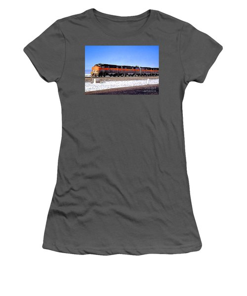 Western Pacific Diesel Locomotive Trainset Women's T-Shirt (Junior Cut) by Wernher Krutein