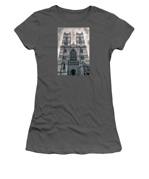 Westminister Abbey Bw Women's T-Shirt (Athletic Fit)