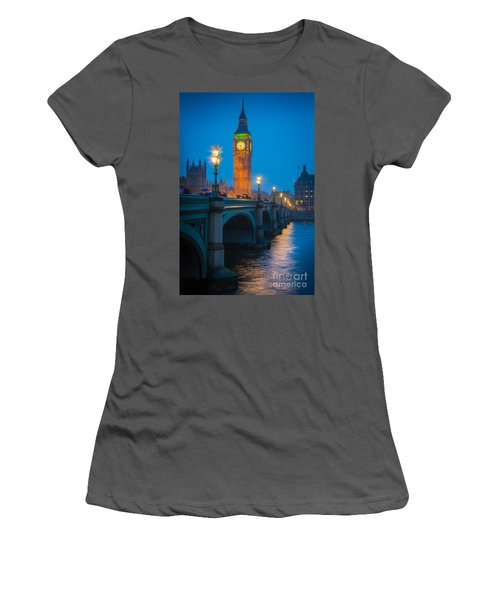 Westminster Bridge At Night Women's T-Shirt (Athletic Fit)