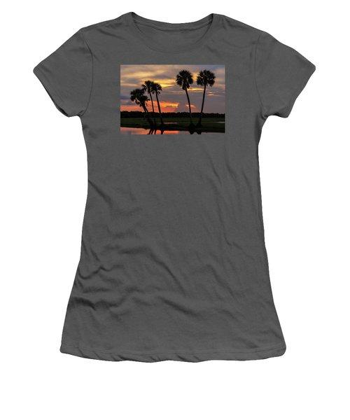 Wetlands Sunset Women's T-Shirt (Athletic Fit)