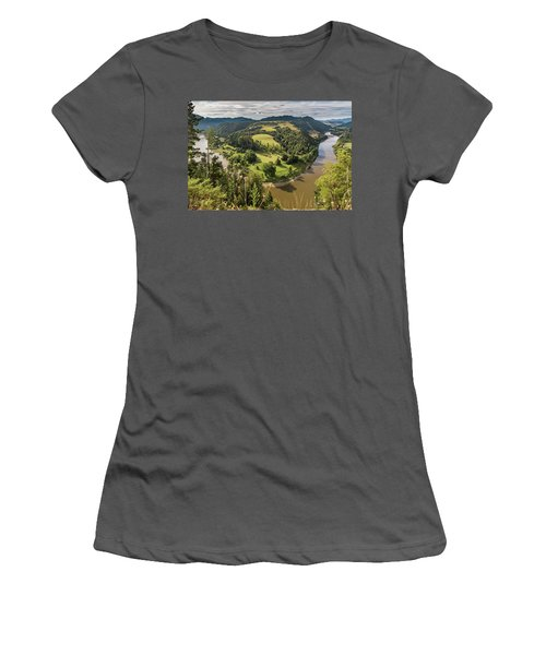 Women's T-Shirt (Athletic Fit) featuring the photograph Whanganui River Bend by Gary Eason