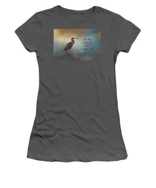 What A Wonderful World Women's T-Shirt (Athletic Fit)