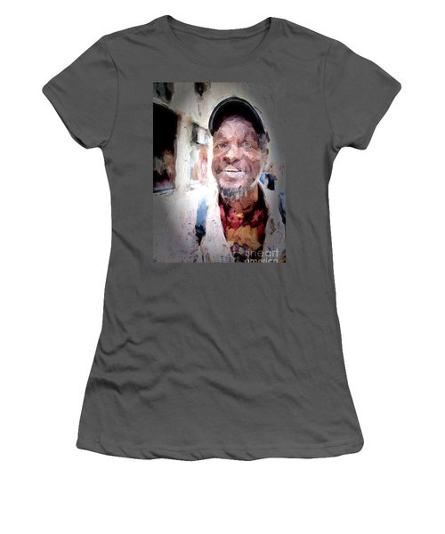 Women's T-Shirt (Junior Cut) featuring the photograph The Smiling Man by Jack Torcello