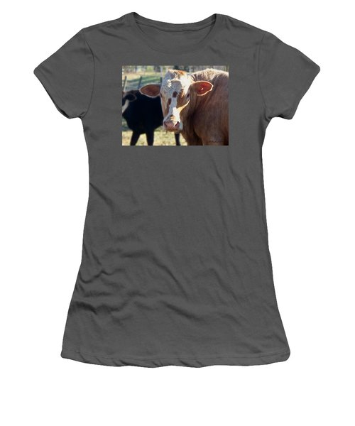 Women's T-Shirt (Junior Cut) featuring the photograph What You Lookin' At by Betty Northcutt
