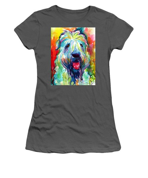 Wheaten Terrier Dog Portrait Women's T-Shirt (Athletic Fit)