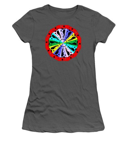 Wheel Of Color Women's T-Shirt (Athletic Fit)