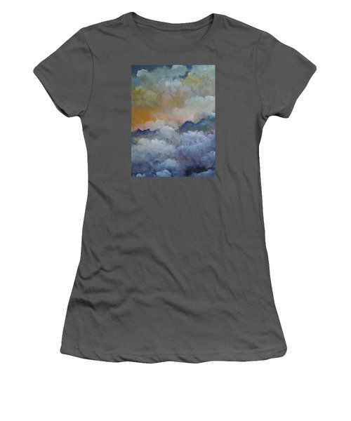 Women's T-Shirt (Junior Cut) featuring the painting When I Consider Your Heavens Psalm 8 by Dan Whittemore