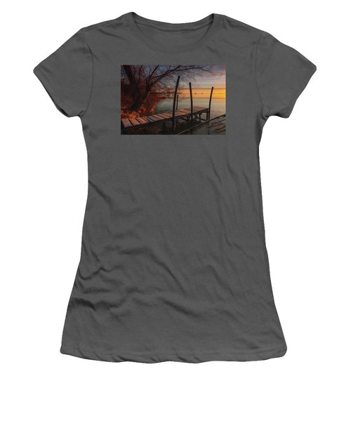 When The Light Touches The Shore Women's T-Shirt (Athletic Fit)