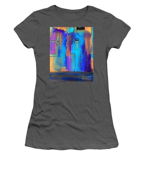 When The Lines Blur Women's T-Shirt (Athletic Fit)