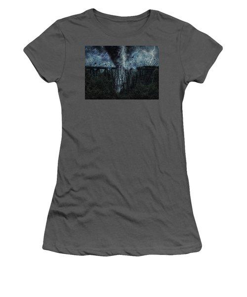 When The Tornado Hit The Bridge Women's T-Shirt (Athletic Fit)