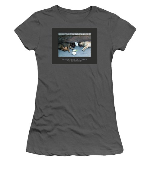 Women's T-Shirt (Junior Cut) featuring the photograph When We Help Each Other by Donna Corless
