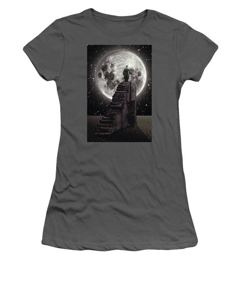 Where The Moon Rise Women's T-Shirt (Athletic Fit)