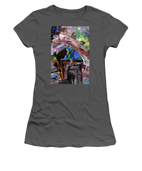 Where The Smiles Roam Abstract  Women's T-Shirt (Junior Cut) by Erika Pochybova