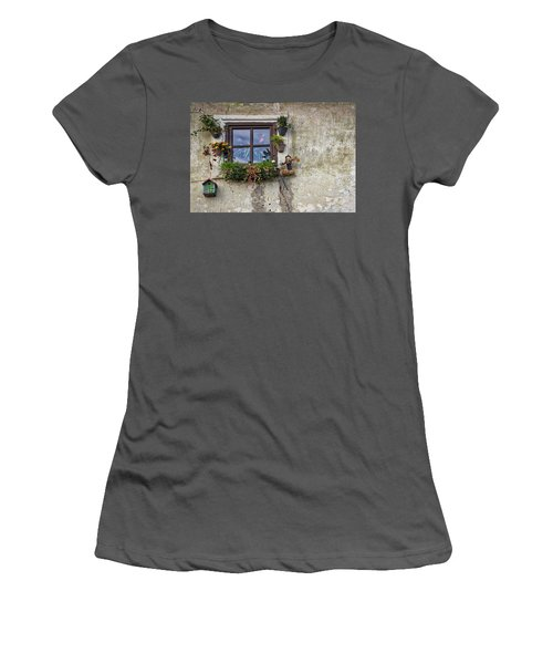 Women's T-Shirt (Athletic Fit) featuring the photograph Whimsical Window - Slovenia by Stuart Litoff