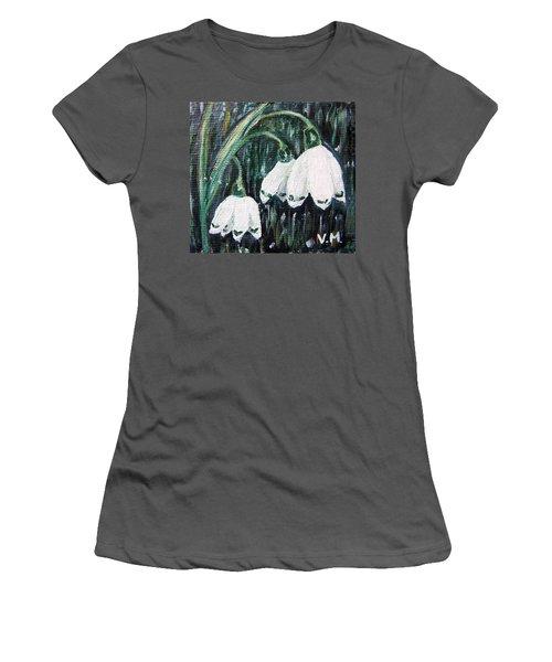 White Bells Women's T-Shirt (Junior Cut) by Vesna Martinjak