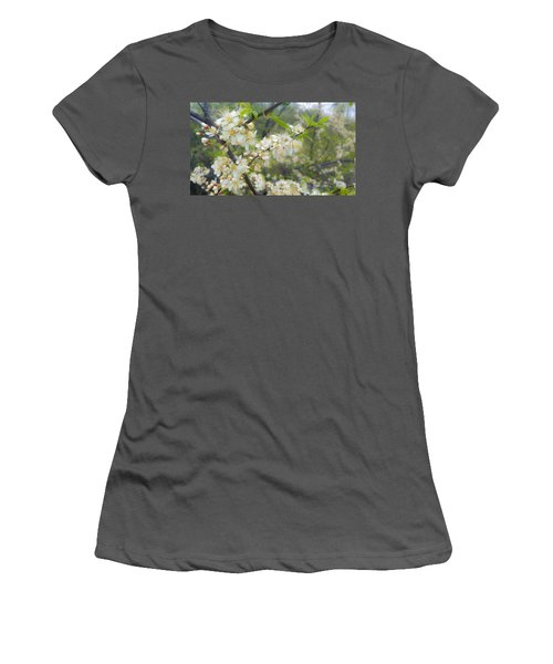 White Blossoms On Fruit Tree Women's T-Shirt (Athletic Fit)