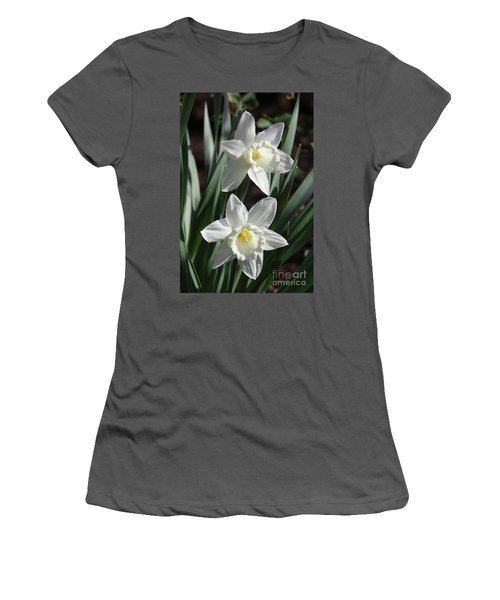 White Daffodils #2 Women's T-Shirt (Athletic Fit)