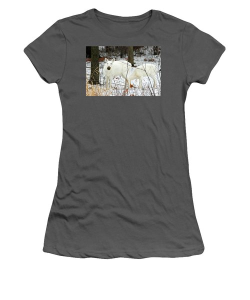 White Deer With Squash 3 Women's T-Shirt (Athletic Fit)