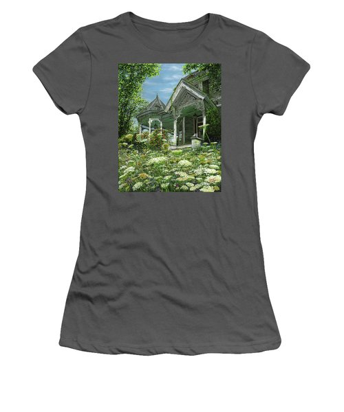 White Lace And Promises Abandoned Women's T-Shirt (Junior Cut) by Doug Kreuger